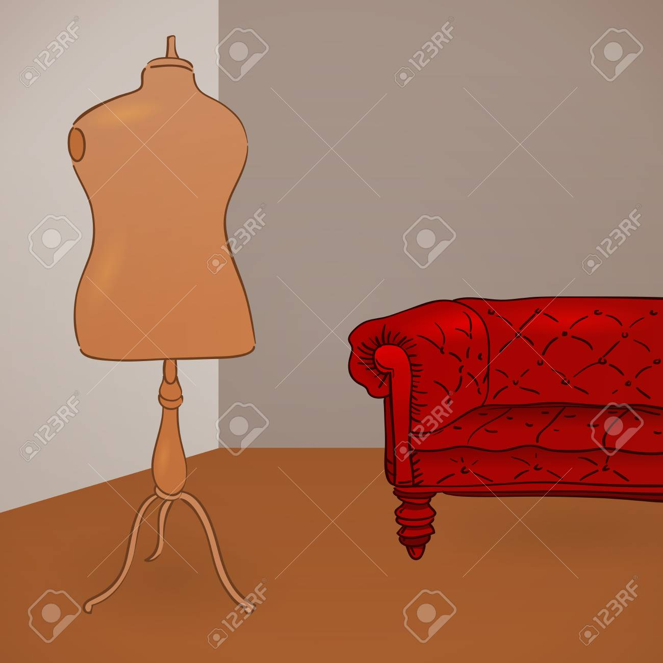 Clothing Mannequin Illustration Stock Vector - 12711716