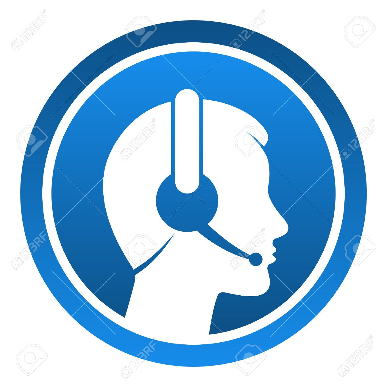 Headset Contact Icon Stock Vector - 14720149