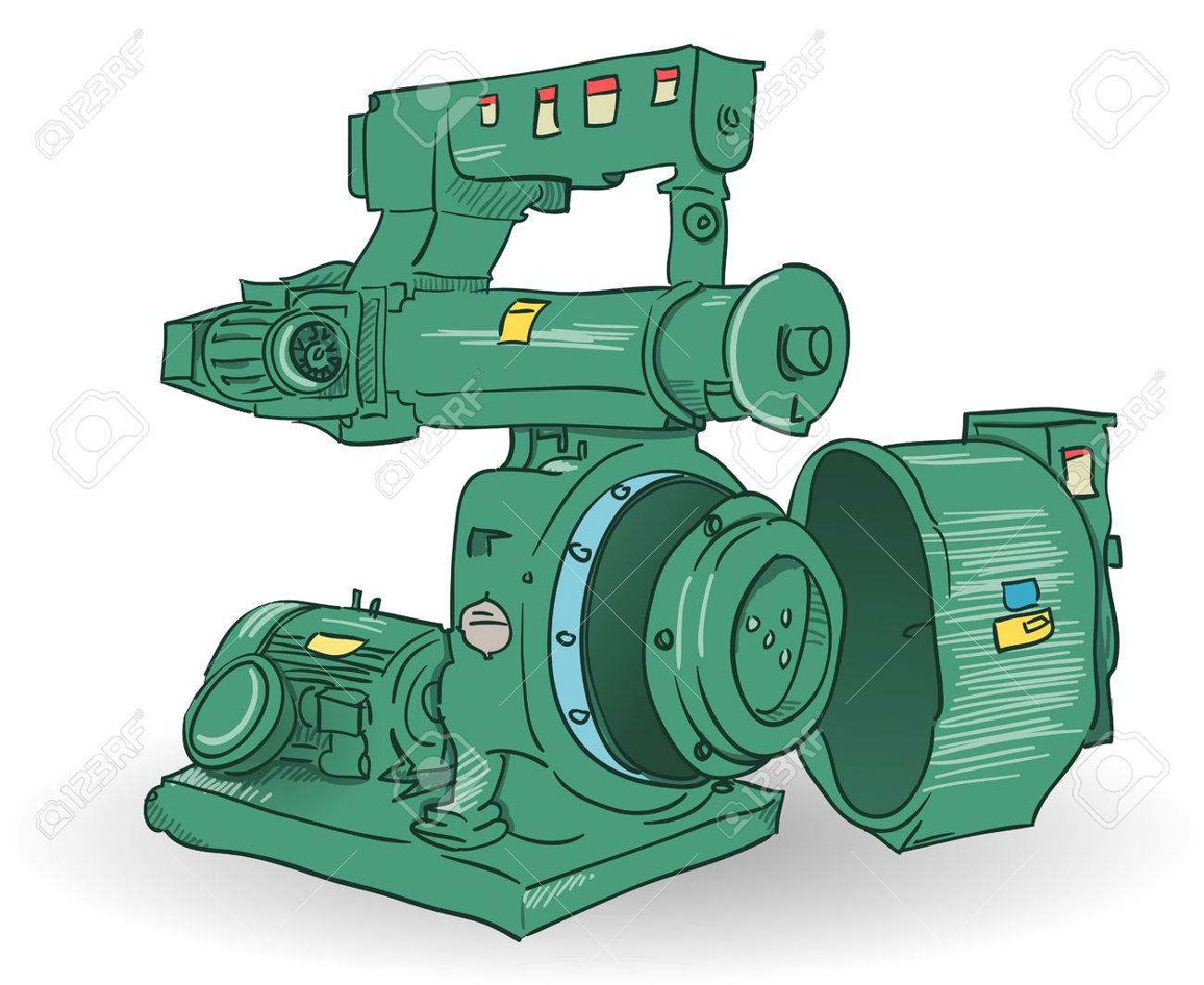 Industrial Machine Illustration Royalty Free Cliparts, Vectors ...