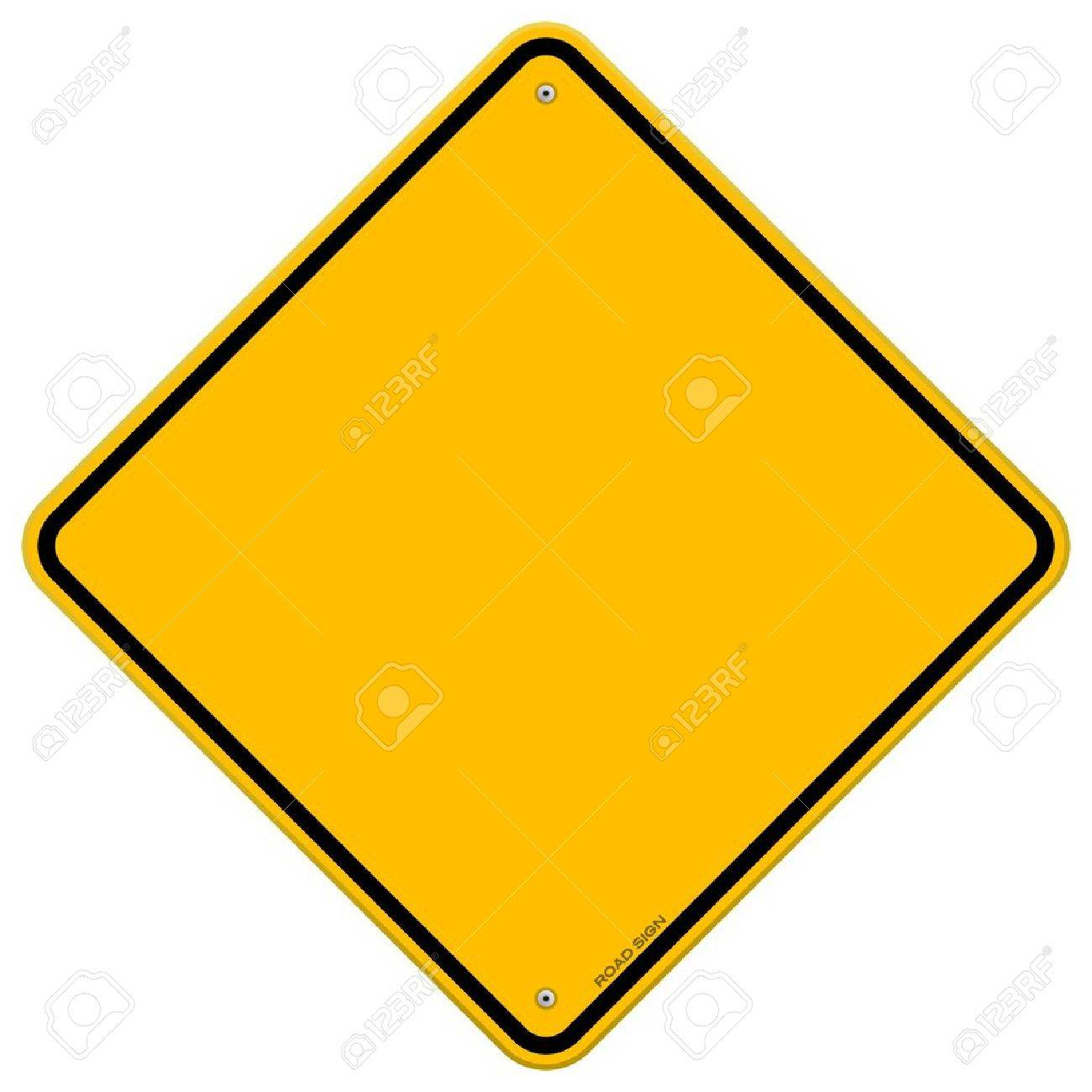 Isolated Blank Yellow Sign Stock Vector - 15149244