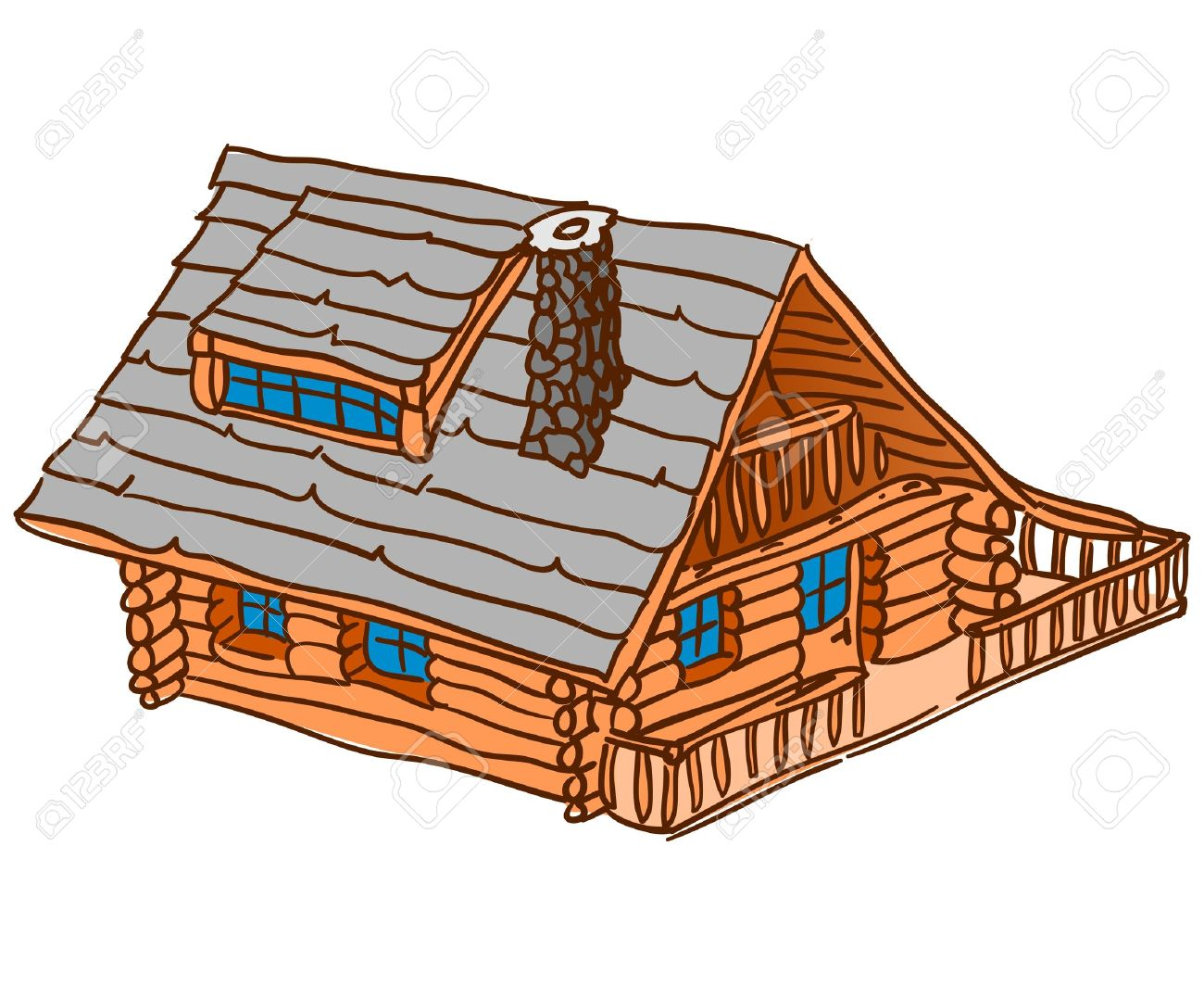 Isolated Wooden Cabin Stock Vector - 15782467
