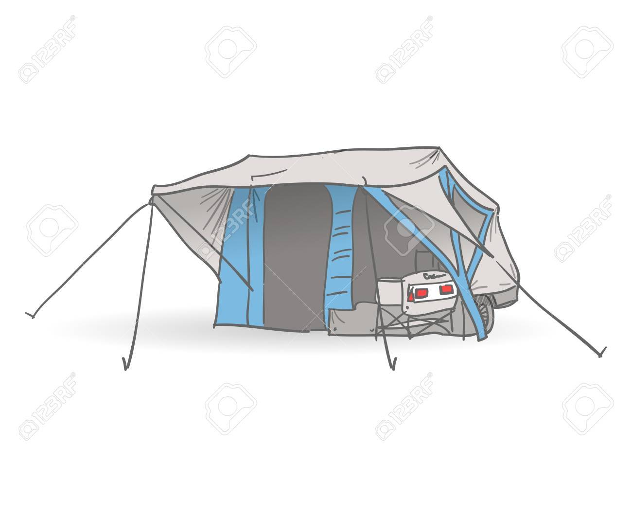 Camping Tent Stock Vector - 15782590