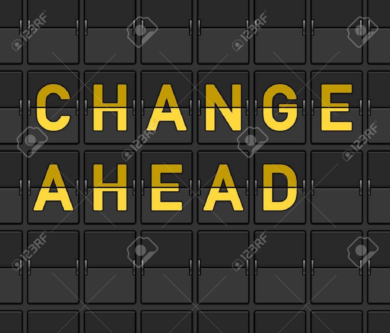 Change Ahead Flip Board - 15782277