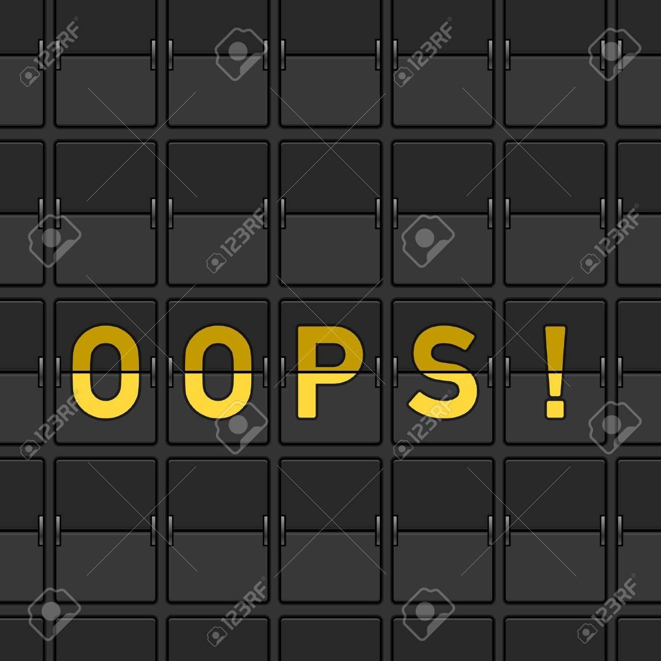 Oops Flip Board Stock Vector - 15782235