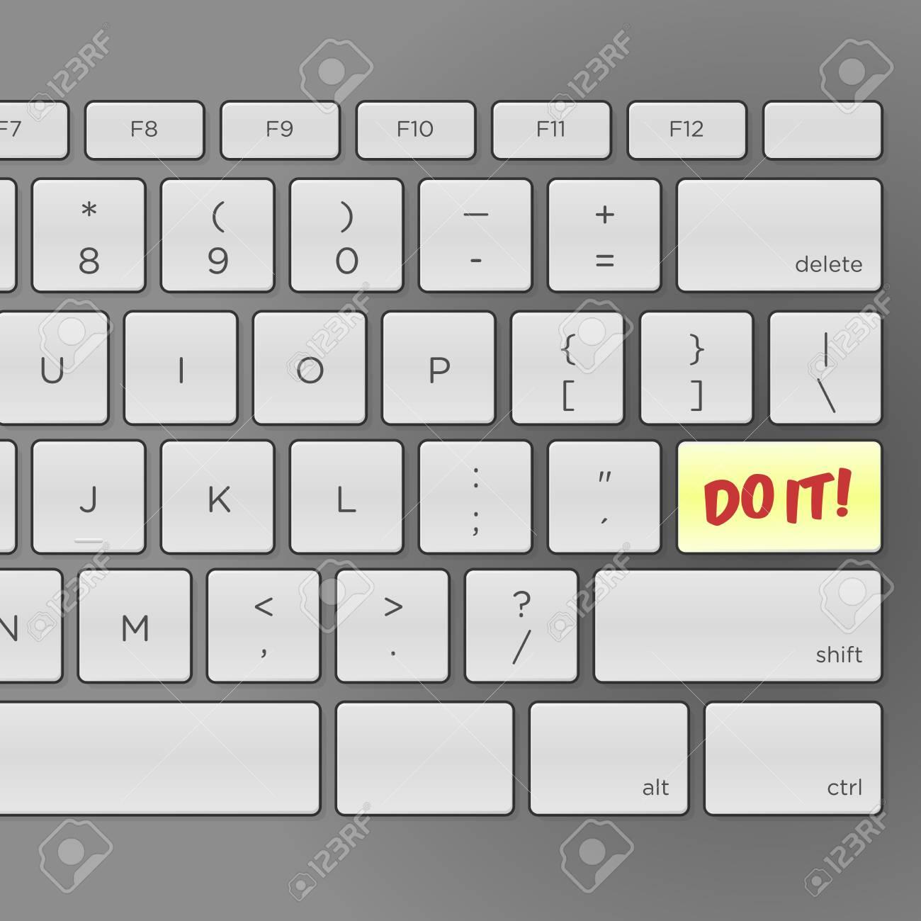 Do It Keyboard Stock Vector - 15782697
