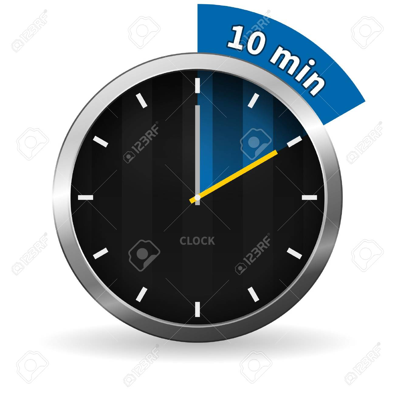 Clock Showing 10 O'clock Clock 10 Minutes to go Clock