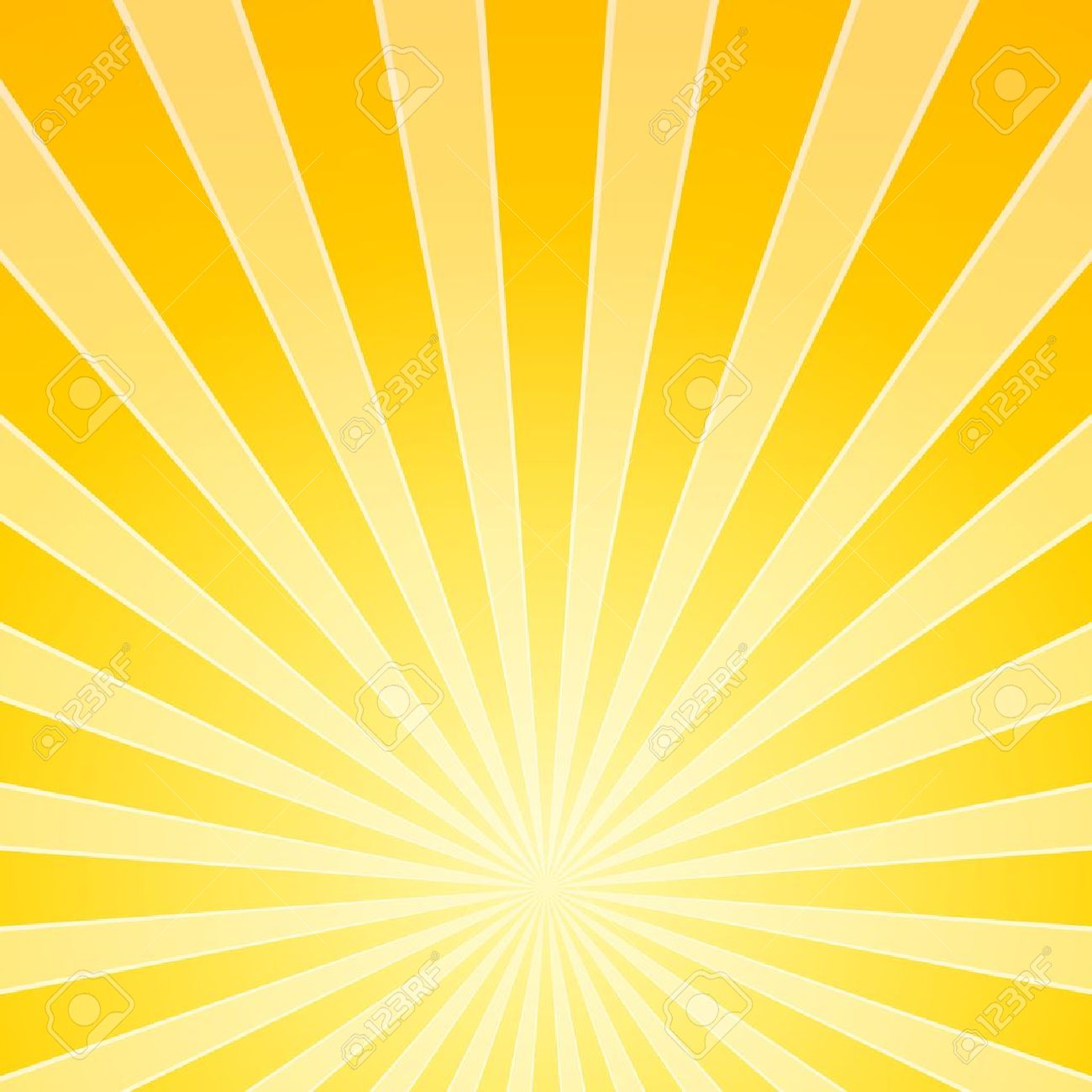 Yellow Bright Ligh Beams Stock Vector - 16645464