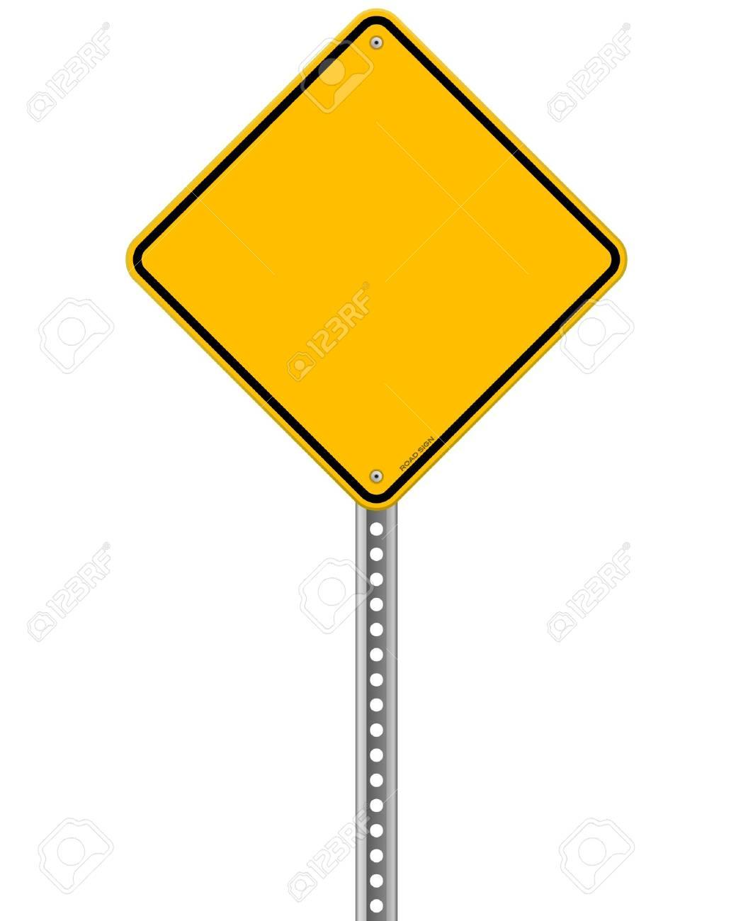 Empty Yellow Sign Stock Vector - 20763755