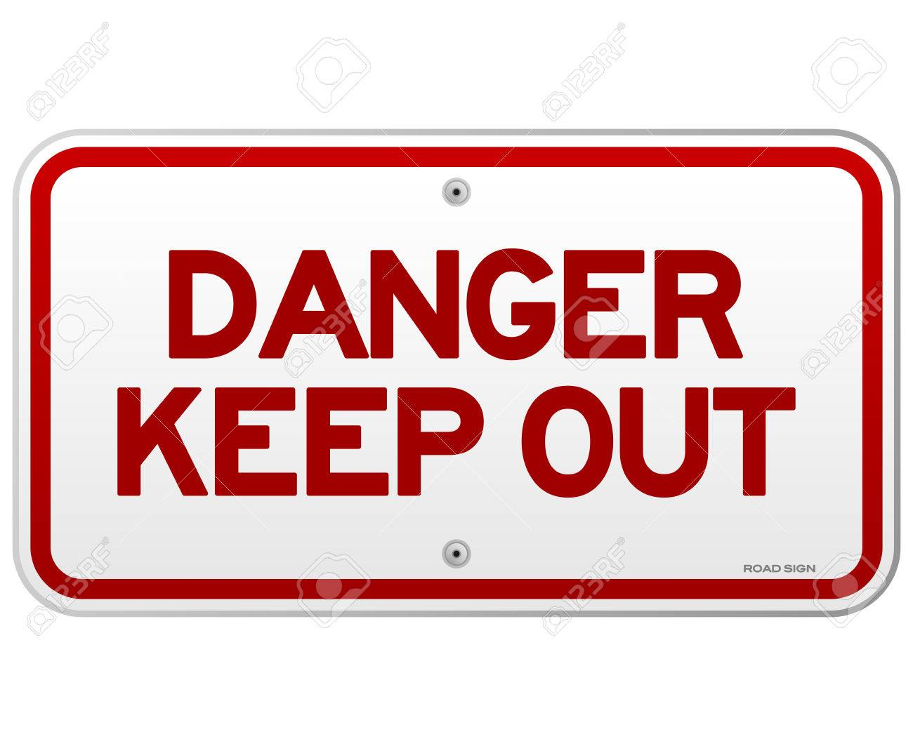 Danger Keep Out Notice Stock Vector - 22963642