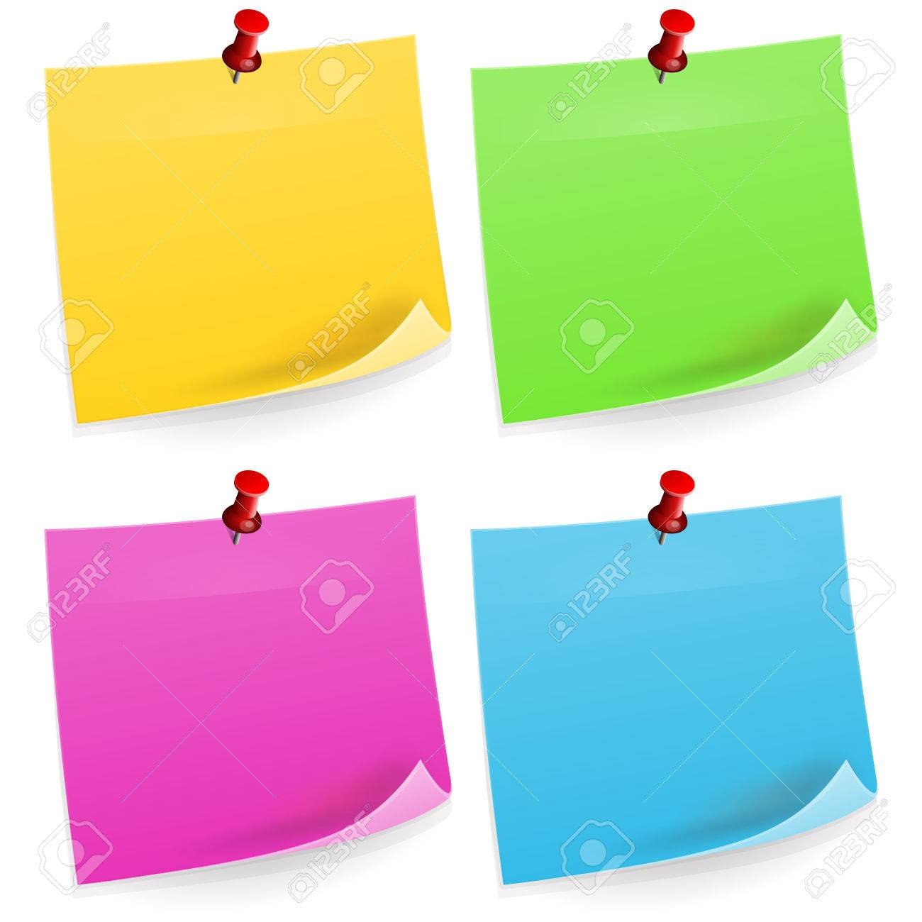 Free vector graphic sticky note note info paper free image on - Four Sticky Notes Stock Vector 22963653