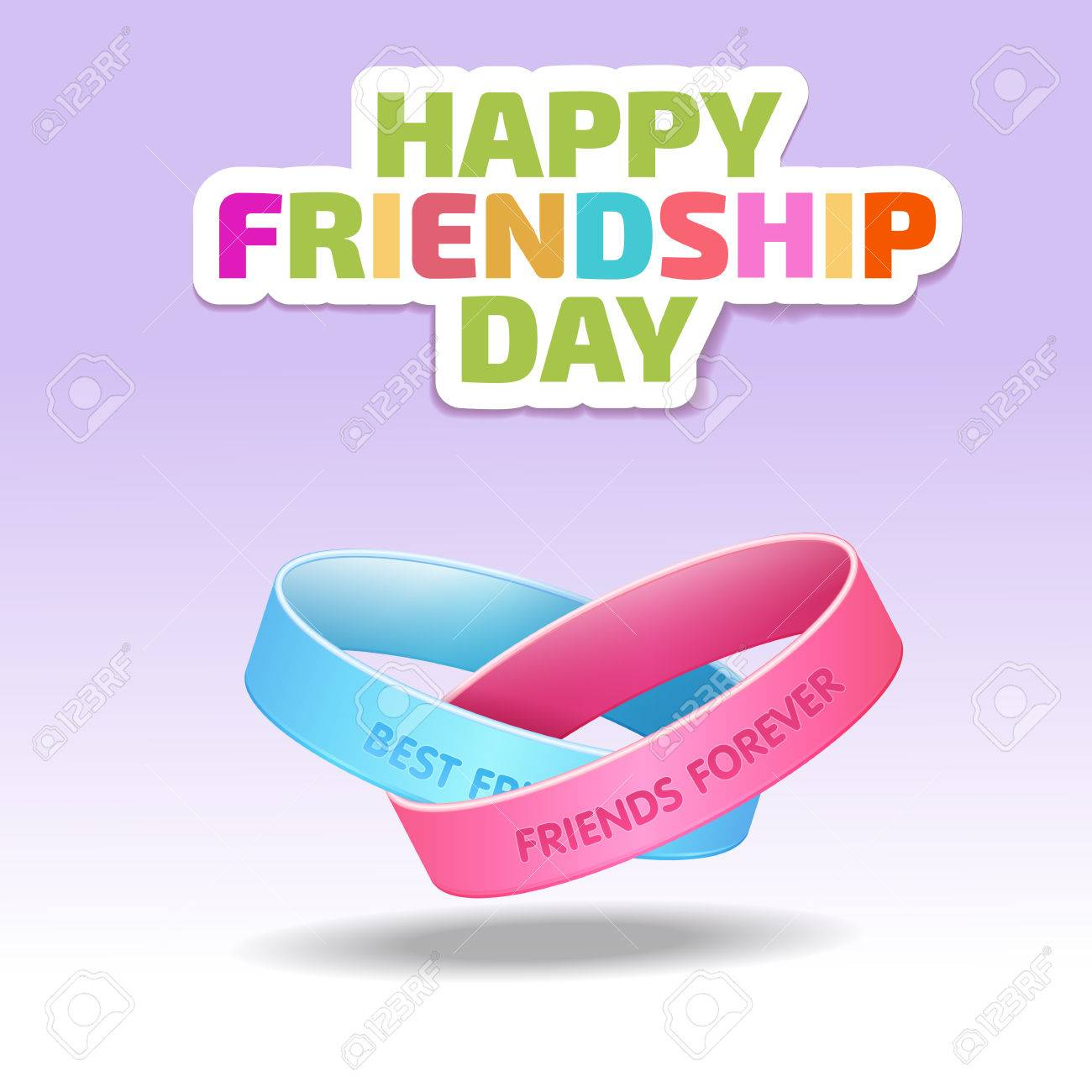 large style picture of wrap bands id friendship