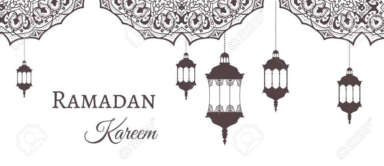ramadan lantern pattern  Ramadan Kareem greeting background template arabic design patterns..