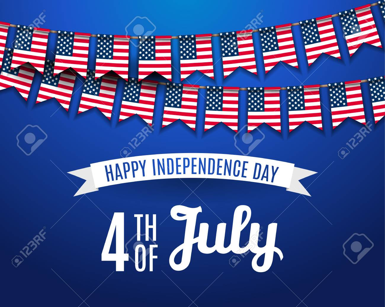 July Fourth 4th Of July Holiday Greeting Card Template Usa