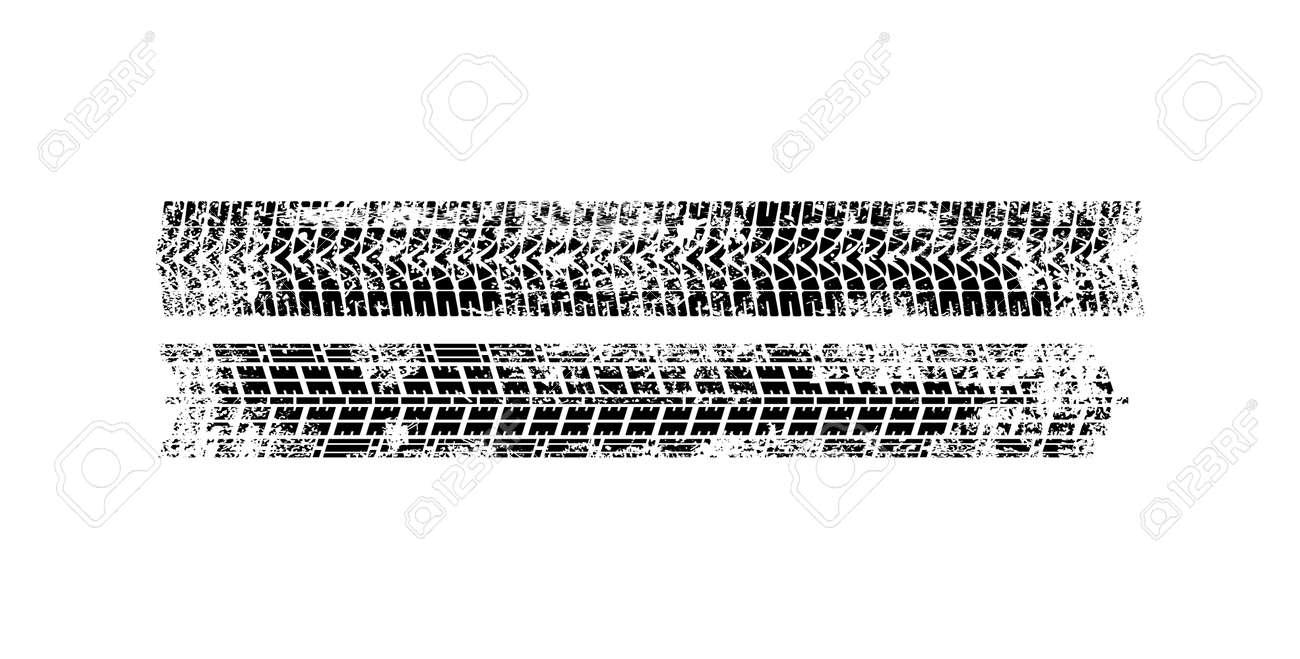 Vector Print Textured Tire Track . Design Element .Bike thread silhouette. Vector illustration - 159550752