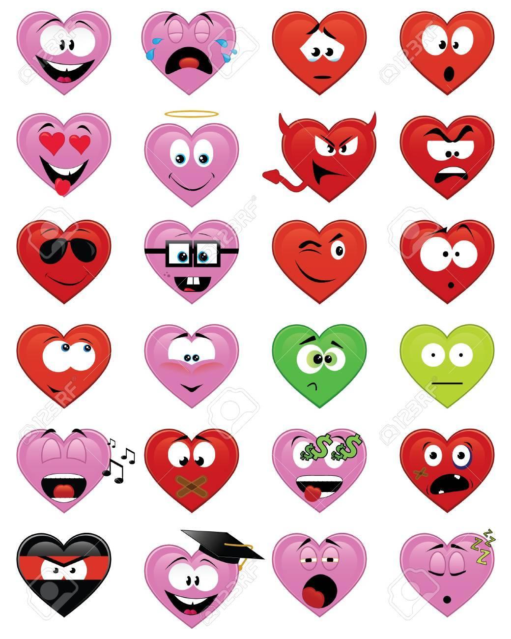 Heart-shaped smiles Stock Vector - 6344231