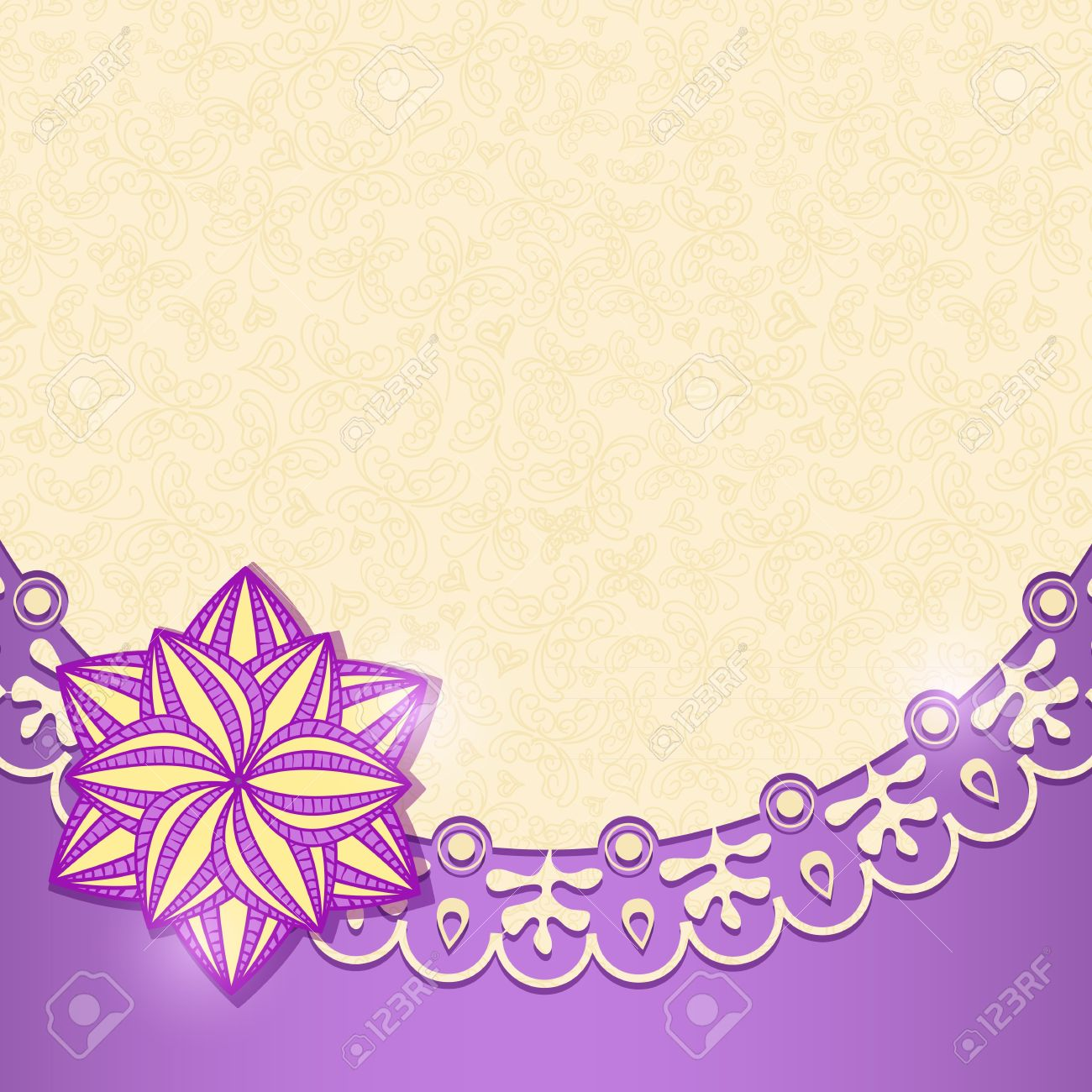 Violet shiny floral invitation card in retro style vector background violet shiny floral invitation card in retro style vector background stock vector 19396169 stopboris Images