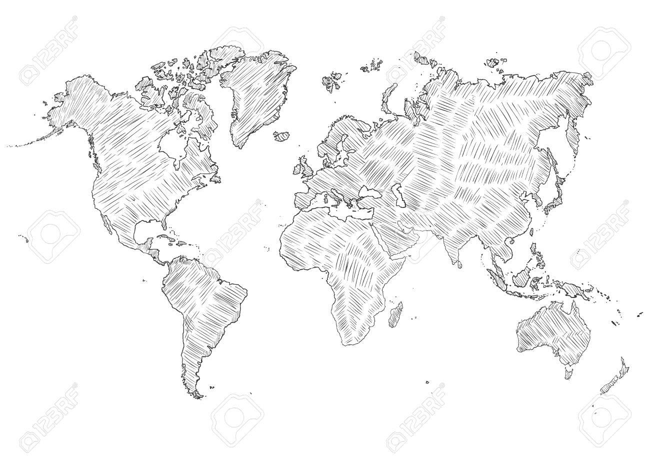 Vector sketch doodle world map silhouette illustration royalty vector sketch doodle world map silhouette illustration stock vector 62073830 gumiabroncs