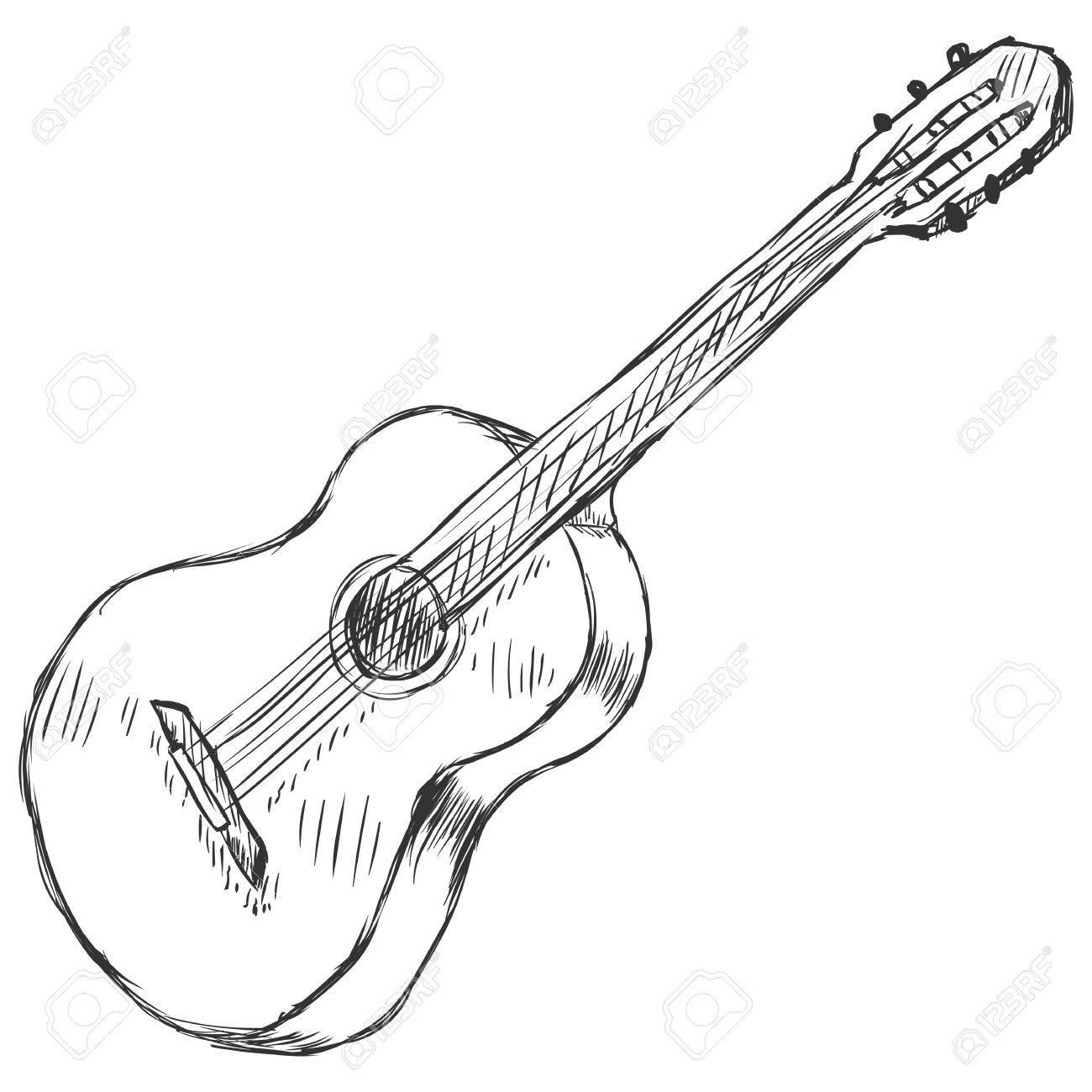 Vector Sketch Acoustic Guitar - 62675506