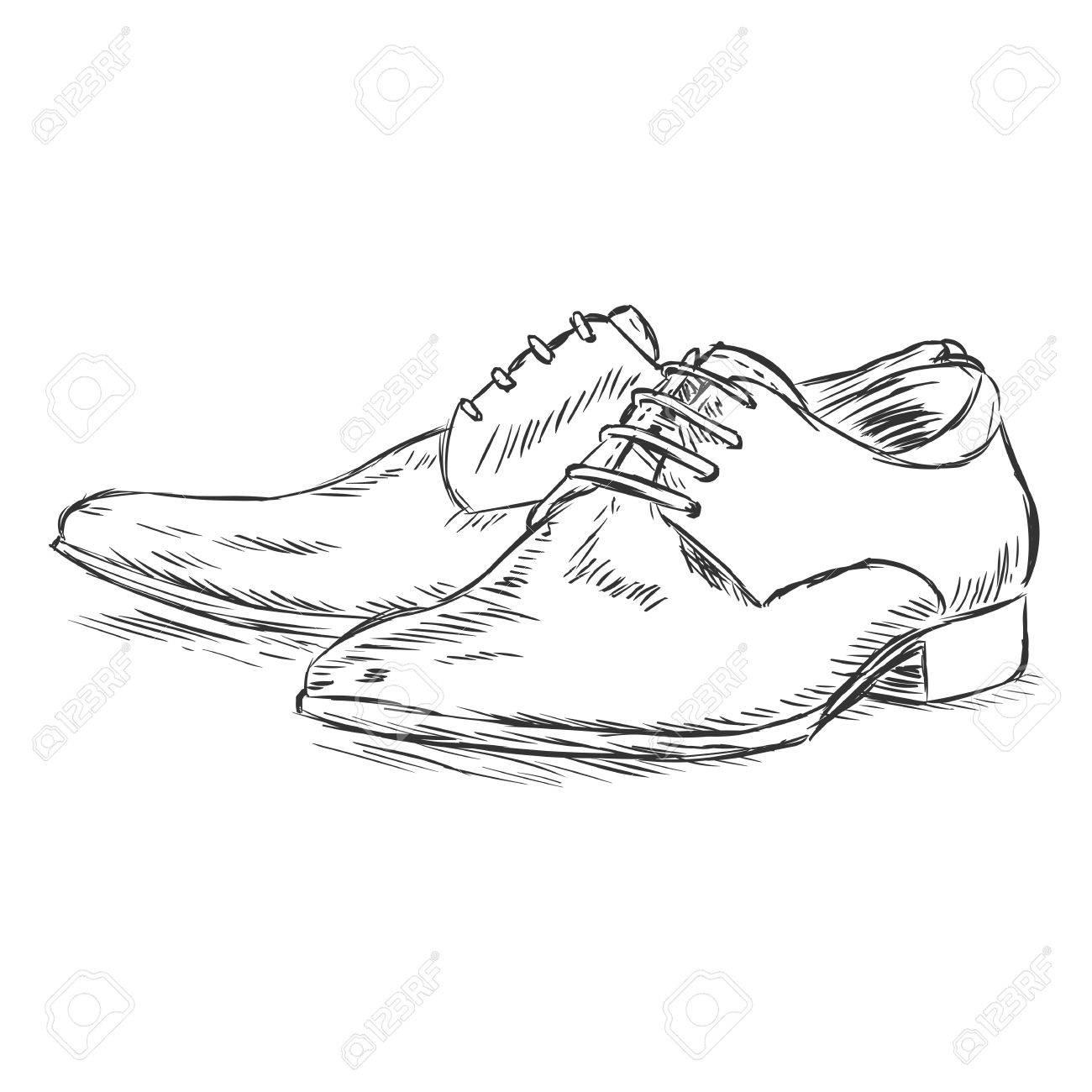 Scarpe illustrazione da vettoriale uomo schizzo rOqr8Rn