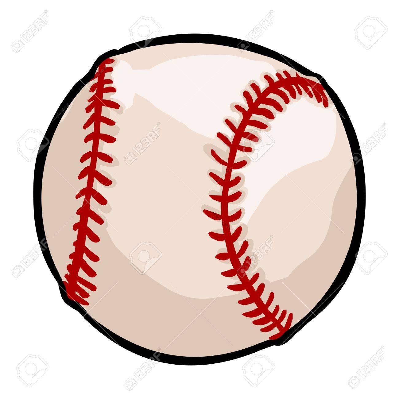 vector single cartoon baseball ball on white background royalty free rh 123rf com baseball ball clipart vector baseball ball logo vector