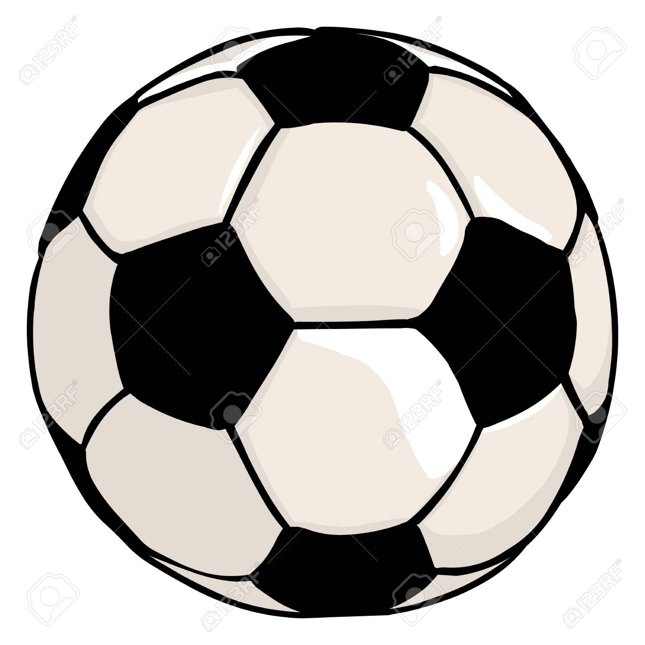 vector single cartoon soccer ball on white background royalty free rh 123rf com soccer victory predictions soccer victory predictions