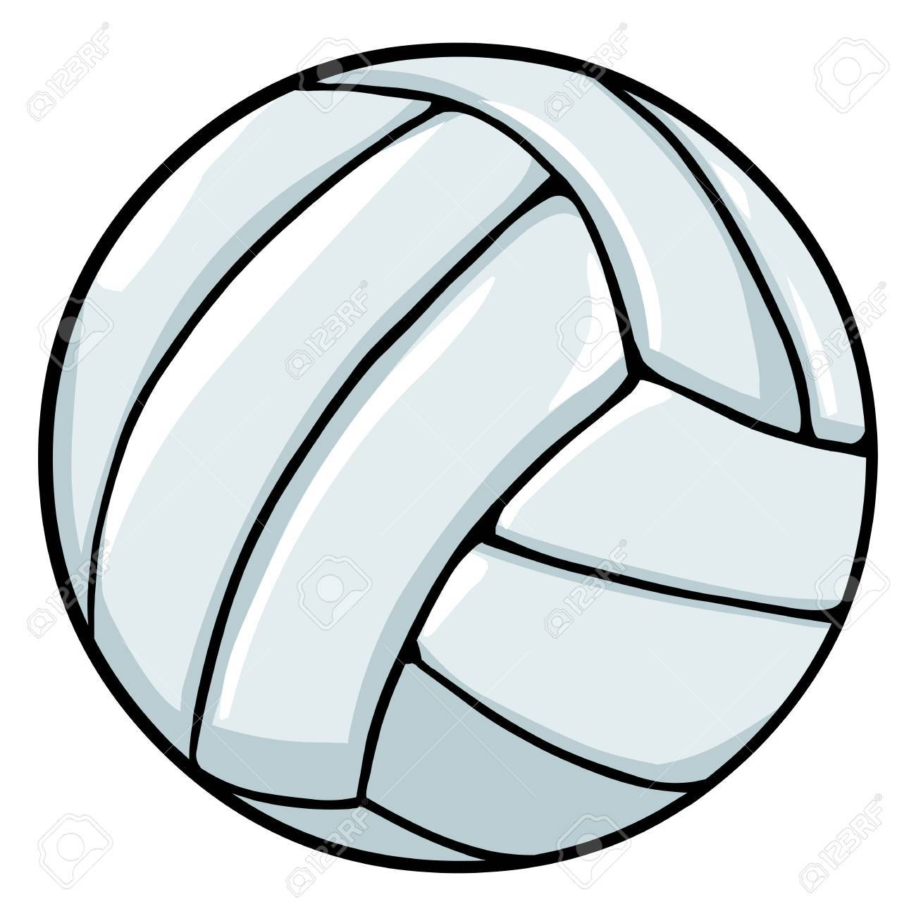 Vector Single Cartoon Volleyball Ball On White Background Royalty Free Cliparts Vectors And Stock Illustration Image 63194160