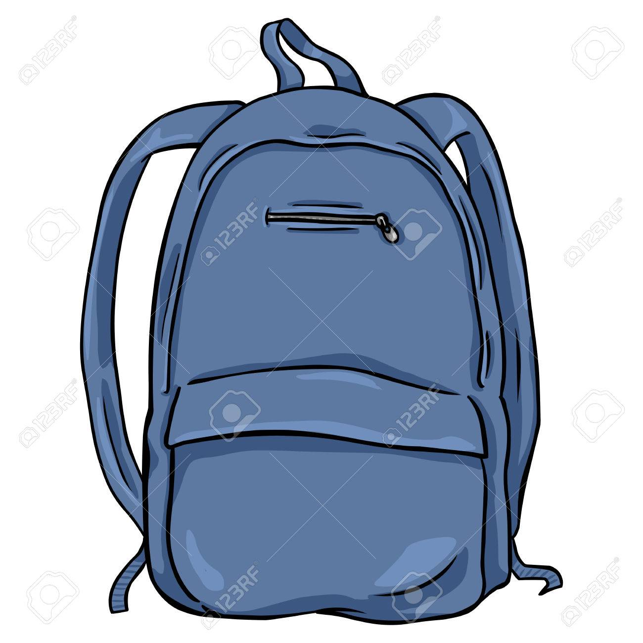 Vector Single Cartoon Backpack On White Background Royalty Free Cliparts Vectors And Stock Illustration Image 63194167