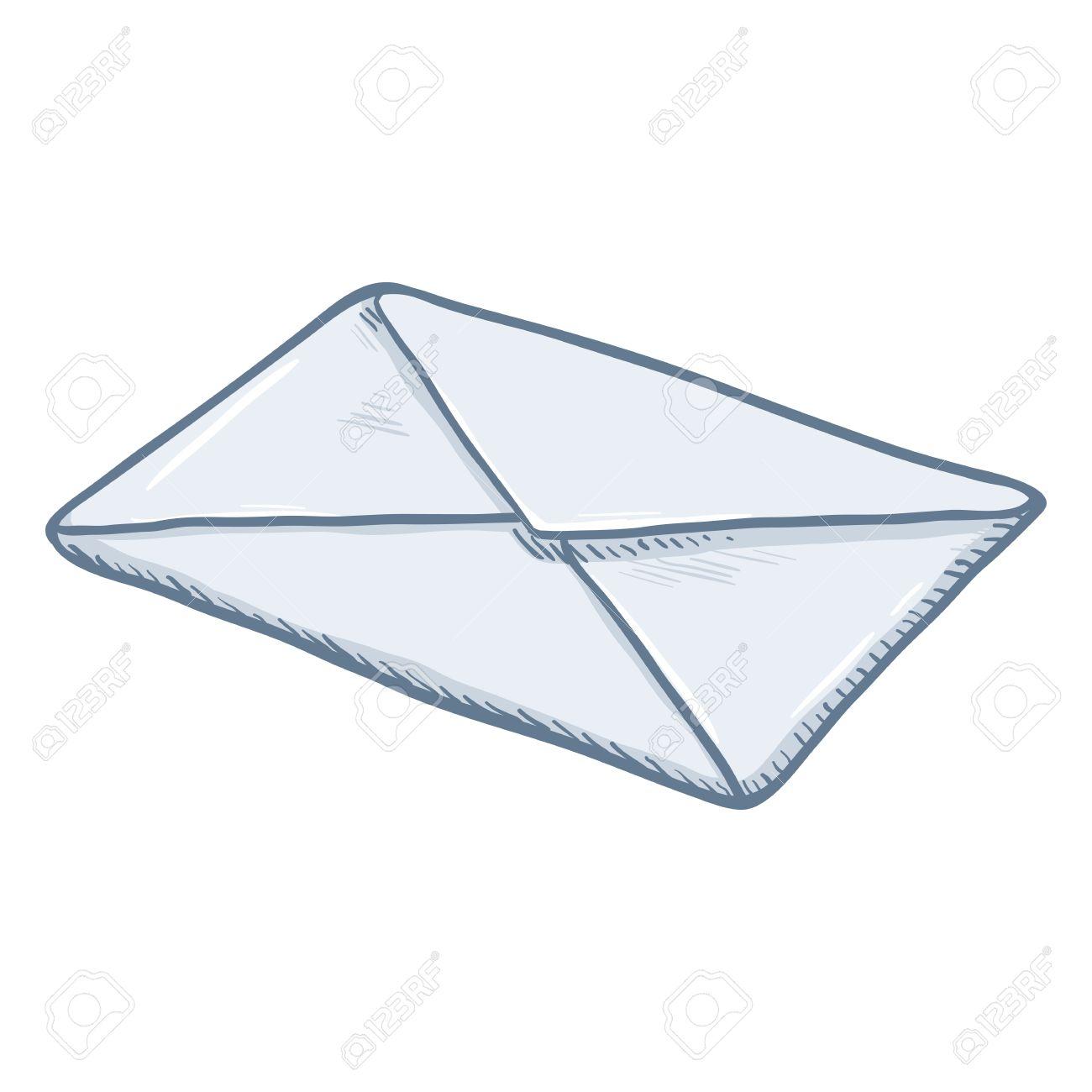 Dessin D Enveloppe enveloppe blanche en blanc collée à un seul dessin clip art libres