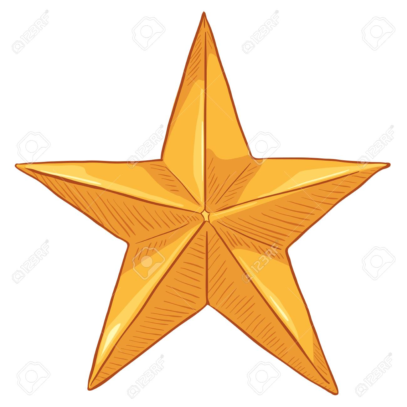 vector cartoon gold star on white background royalty free cliparts rh 123rf com
