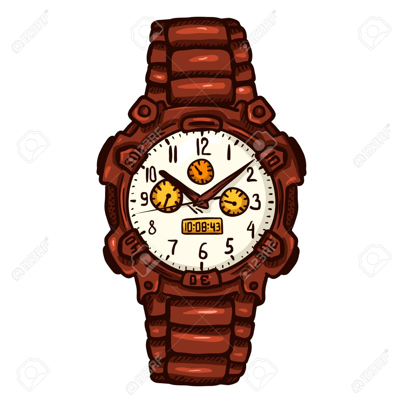 hot sales 6ccc2 2f301 漫画赤モダンなメンズ腕時計