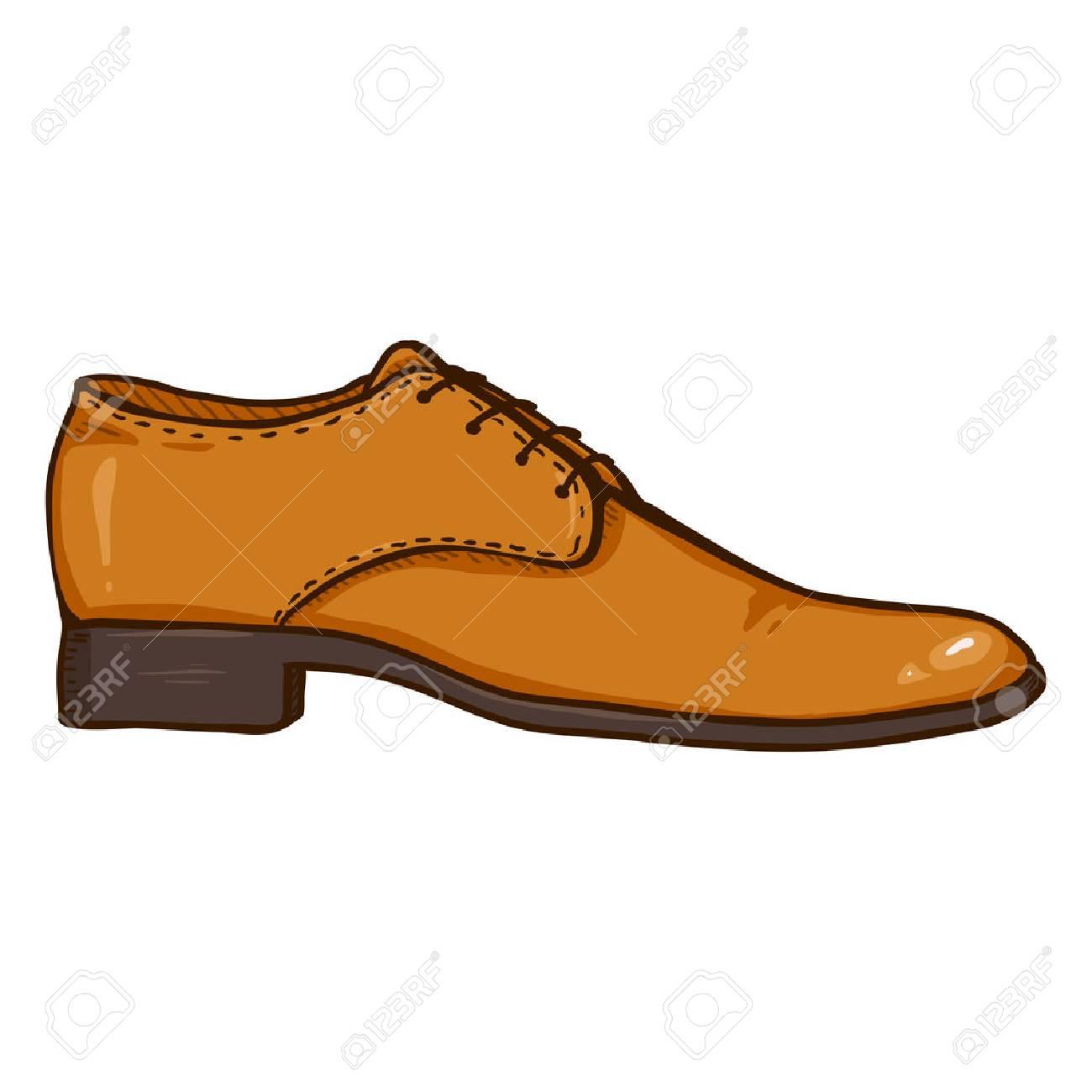 Marrón Ver Animados Shoe Ilustración De Vectores Cuero Zapatos side Dibujos wPiTOlukXZ