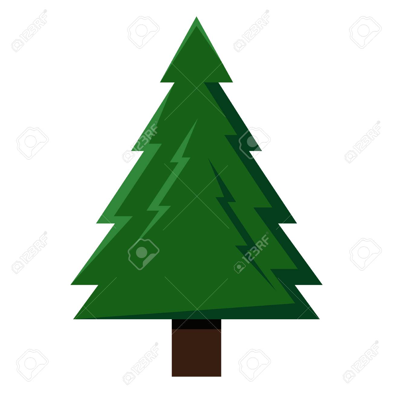 Vector Single Color Icon - Green Pine Tree Royalty Free Cliparts ...