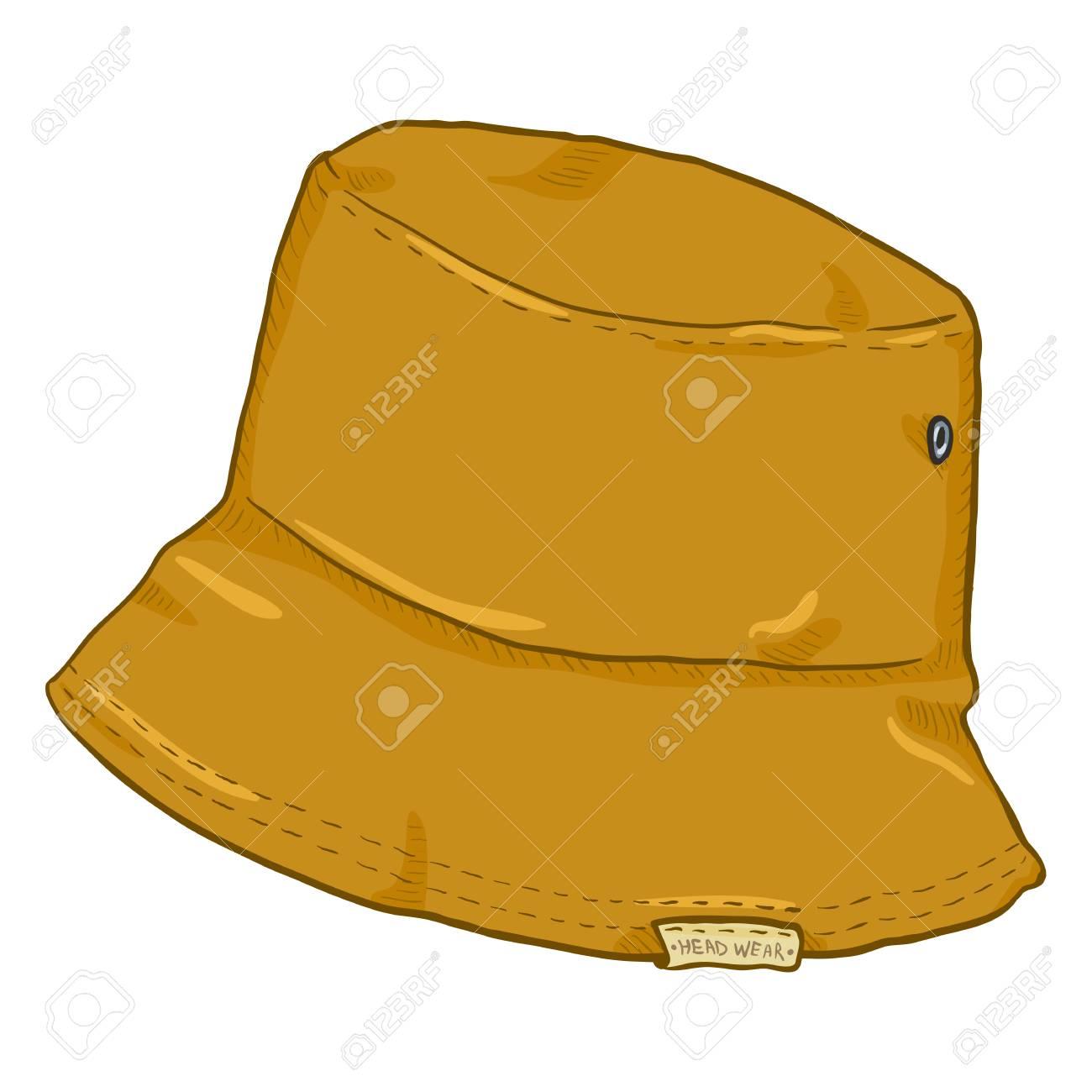 Vector - Vector Single Cartoon Mustard Color Bucket Hat. Urban Street Style. 9ed4b449acb