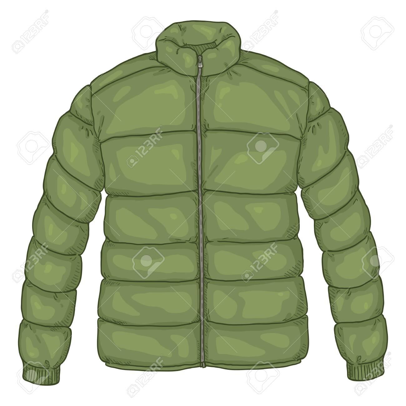 Vector Cartoon Khaki Down Jacket Illustration - 130400004