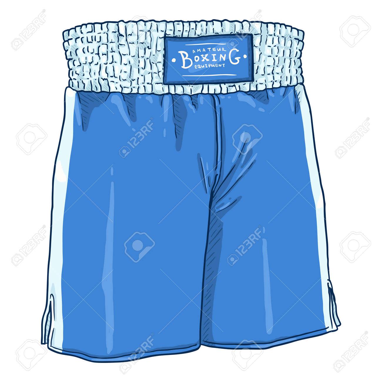 Vector Cartoon Blue Boxing Shorts - 168798657