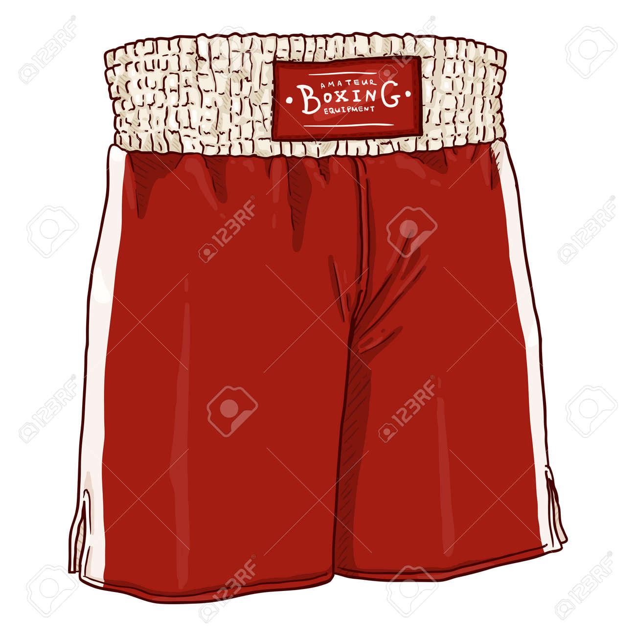 Vector Cartoon Red Boxing Shorts - 168798658