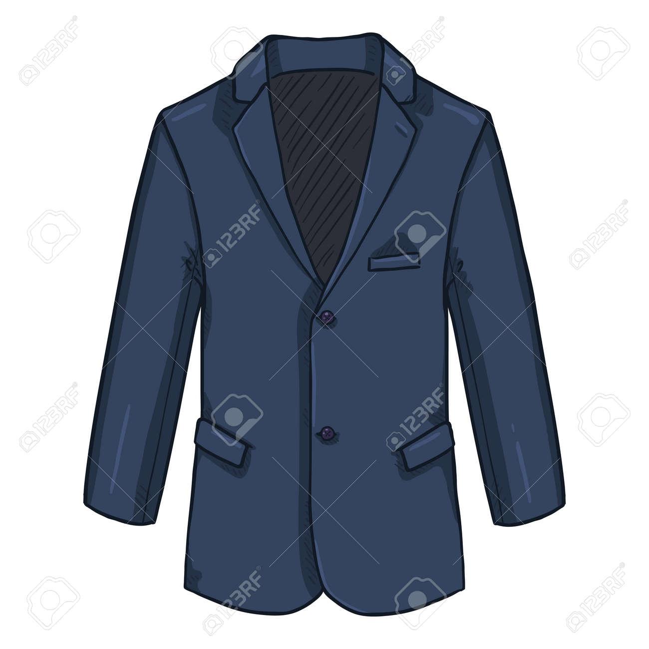 Blazer. Business Suit Blue Jacket Vector Cartoon Illustration. - 169663649