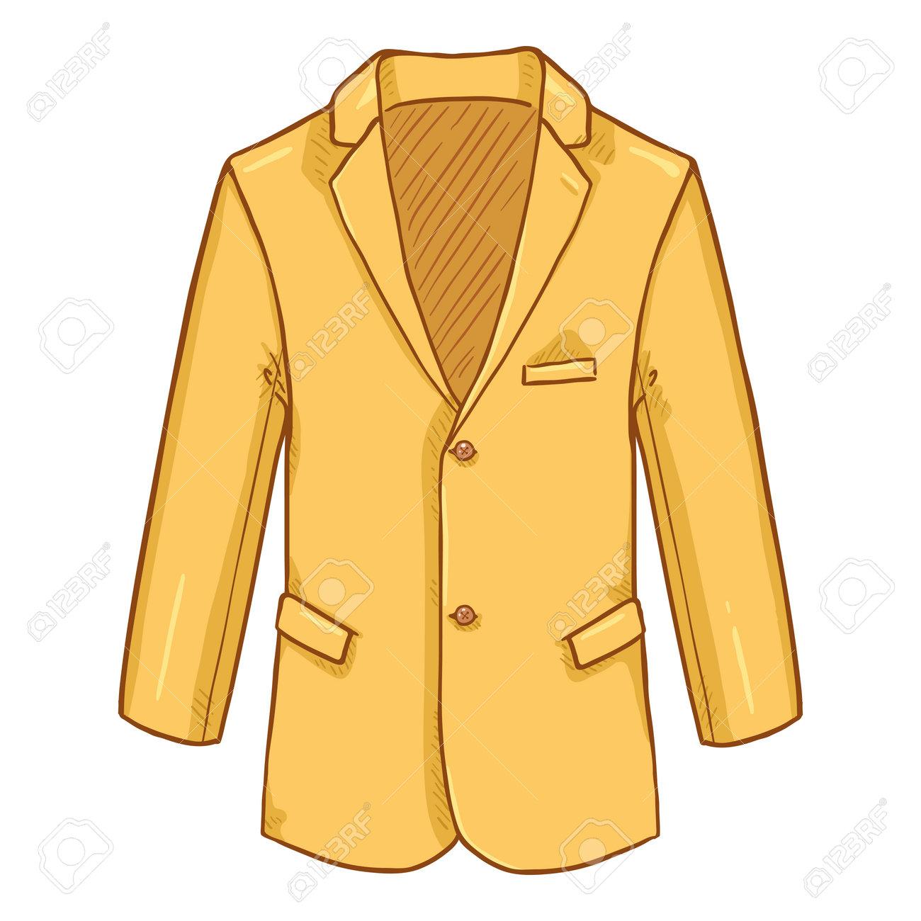 Yellow Blazer. Suit Jacket Vector Cartoon Illustration. - 169663655