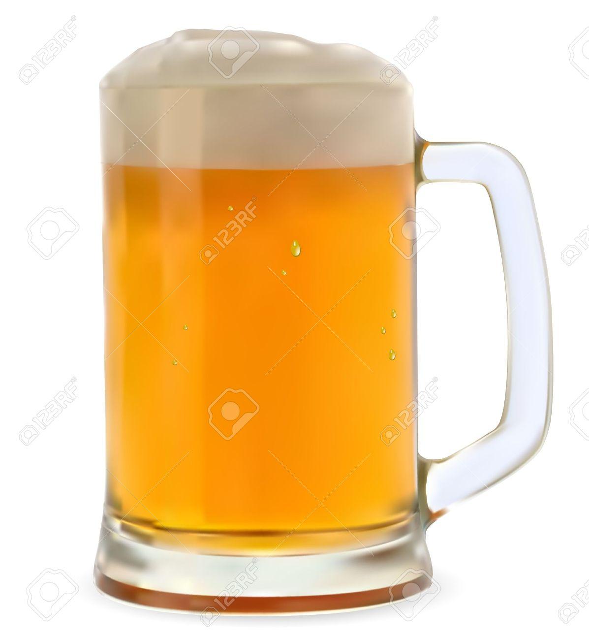 Mug of beer on a white background - 13738968