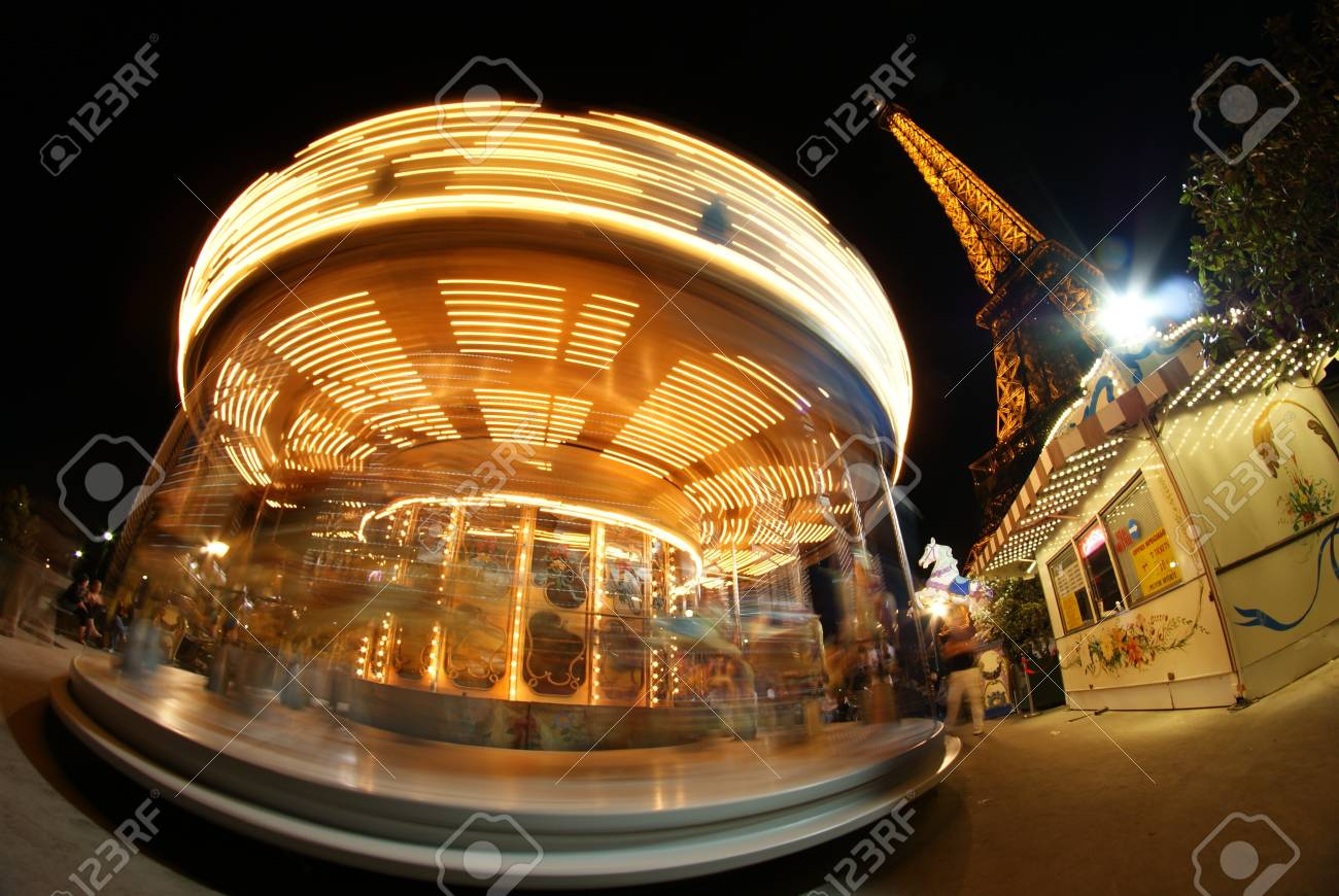Eiffel Tower and Carousel  Stock Photo - 16628350