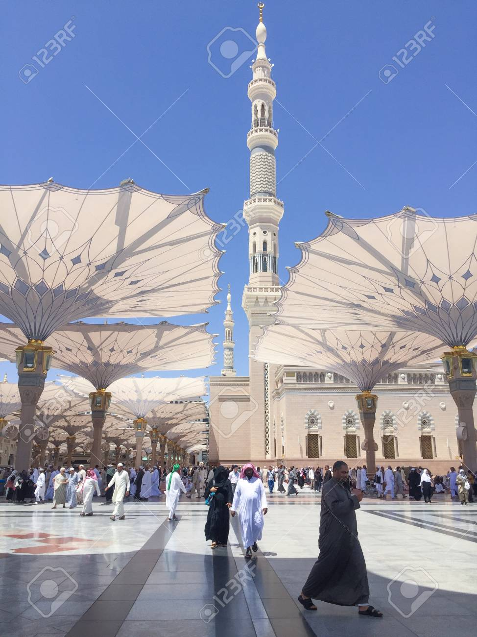 MEDINA, SAUDI ARABIA - APRIL 19, 2016 : Prophet Muhammad Mosque
