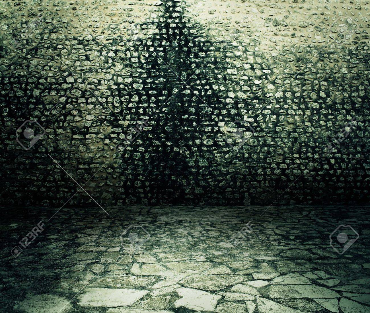 Old rough dark brick wall background texture. Stock Photo - 10685028