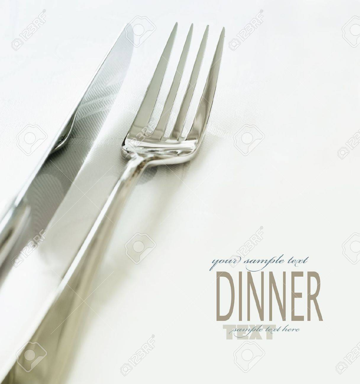 Elegant dinner table setting - Wedding Or Dinner Table Place Setting Fork And Knife And Glass