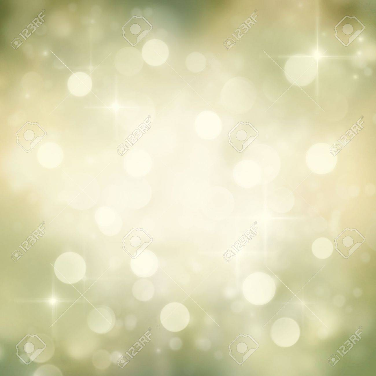 Festive gold Christmas abstract  background with bokeh lights and stars. Stock Photo - 11341640
