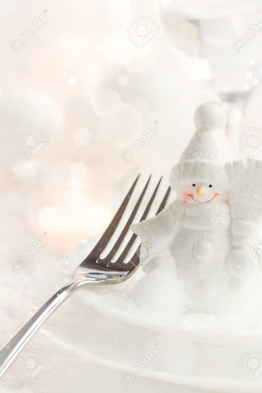 Christmas Table Setting. Gabel Und Messer In Einem Eleganten Rahmen ...