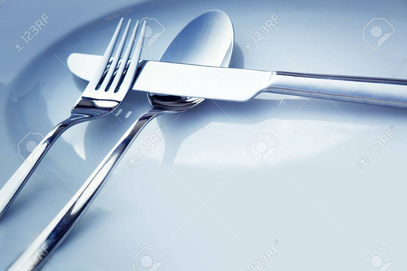 Elegant dinner table setting - Restaurant Menu Series Wedding Or Dinner Table Place Setting Fork And Knife And Glass In Elegant
