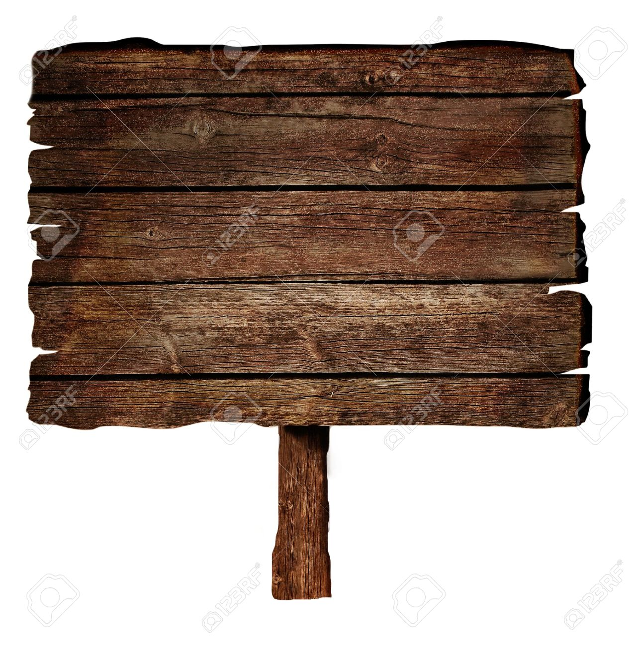 Wooden sign isolated on white. Stock Photo - 14982523