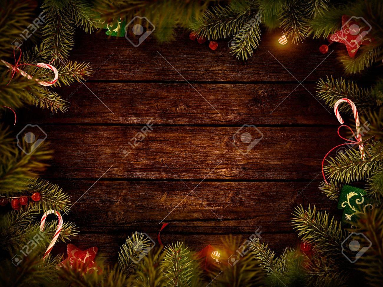Christmas Design - Merry Christmas. Xmas Border Card With With ...