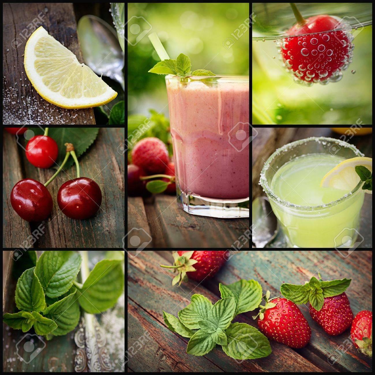 batidos de frutas series restaurant collage de verano bebidas de frutas batido
