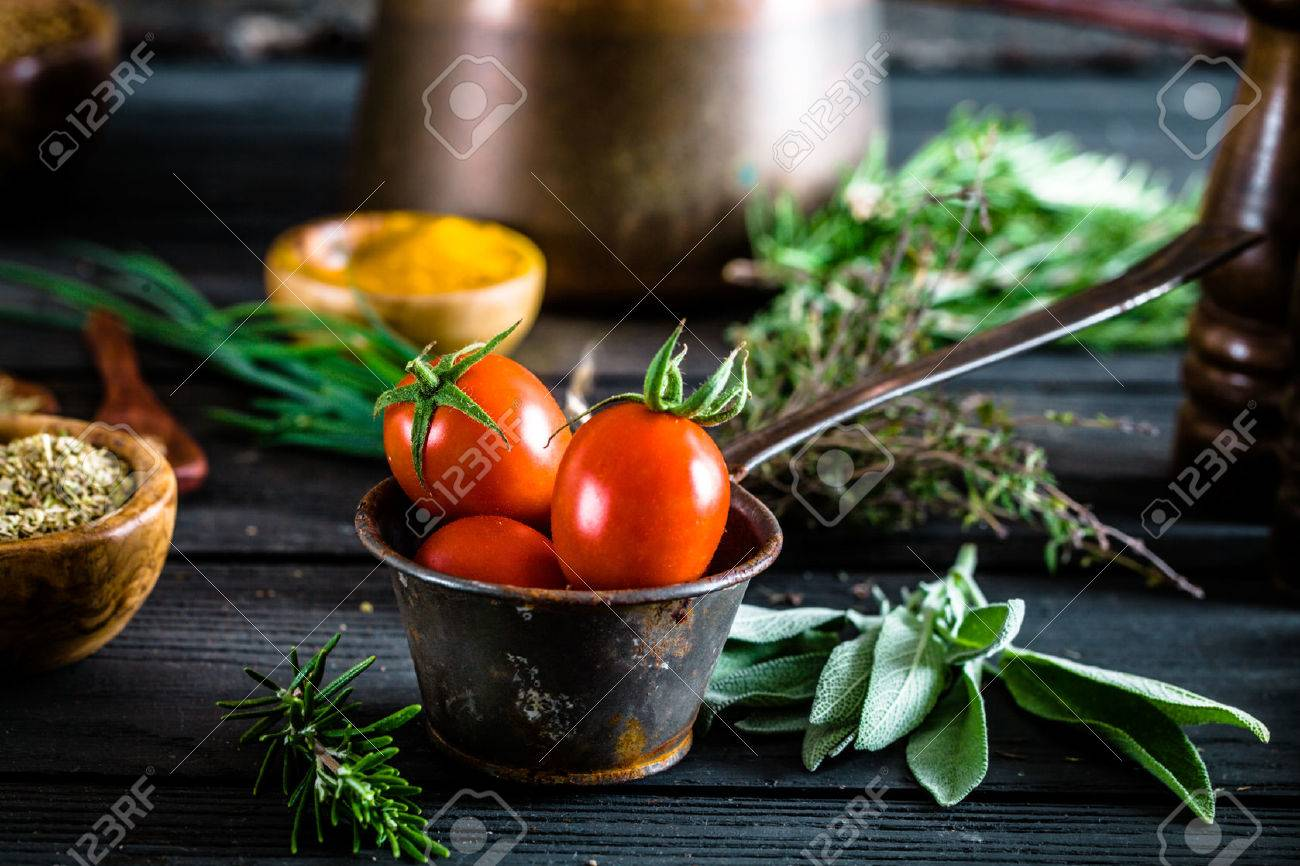 Vegetables on wood. Bio Healthy food, herbs and spices. Organic vegetables on wood - 44693439